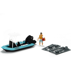 Bateau de pêche + figurine