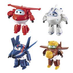 Super Wings-Coffret de 4 figurines transformables articulées