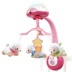 Mobile - Lumi'mobile compte-moutons rose