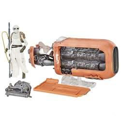 Star Wars Black Series - Figurine Rey et son speeder