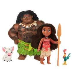 Coffret de 2 poupées Vaiana 15 cm avec figurines - Disney Princesses