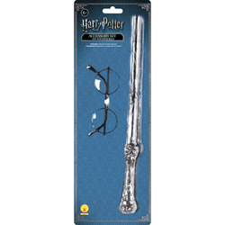 Harry Potter-Kit baguette avec lunettes