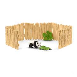 Figurine panda avec enclos