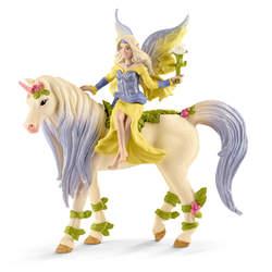 Figurine fée Sera avec la licorne aux fleurs