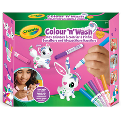 Color'n'Wash mes animaux à colorier à l'infini lapin et chat