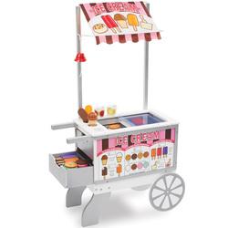 Chariot à hot dogs et glaces
