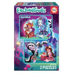 2 puzzles 20 pièces Enchantimals