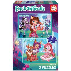 2 puzzles 48 pièces Enchantimals