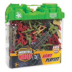 Soldats en plastique 104 pièces