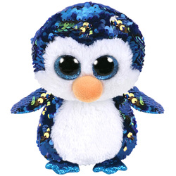 Flippables-Peluche à sequins Payton le pingouin 15 cm