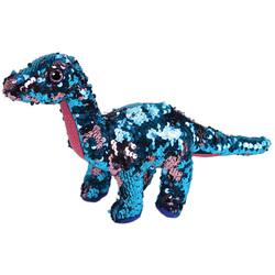 Flippables-Peluche à sequins Tremor le dinosaure 23 cm