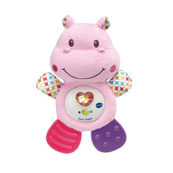 Peluche musicale Croc'hippo rose