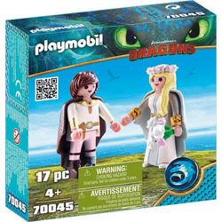 70045 - Playmobil Dragons 3 - Astrid et Harold