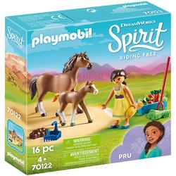 70122 - Playmobil Spirit - Apo avec cheval et poulain