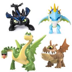 Dragons 3-Figurine mini-dragon