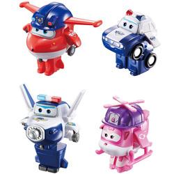 Super Wings-Pack de 4 figurines transformables Jett/Paul/Kim/Dizzy