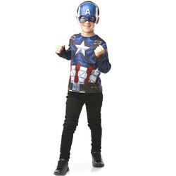 Avengers-Plastron avec masque Captain America 3/6 ans