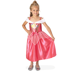 Déguisement Aurore robe sequins 7/8 ans - Disney Princesses