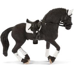 Figurine étalon Frison concours équestre