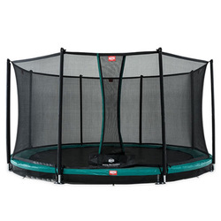 Trampoline Inground Favorit 430 vert avec filet de confort