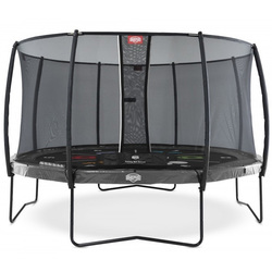 Trampoline Champion Regular 430 gris avec filet