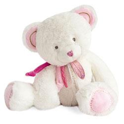 Peluche Attrape rêve ours rose 30 cm