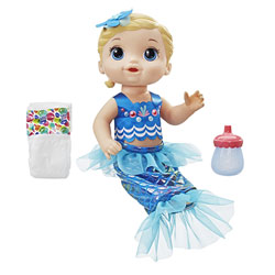 Baby Alive-Bébé Sirène poupée cheveux blonds