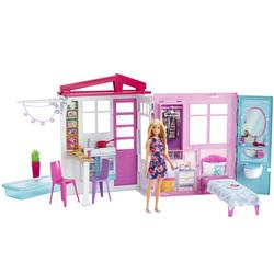 Barbie-Maison à emporter avec poupée