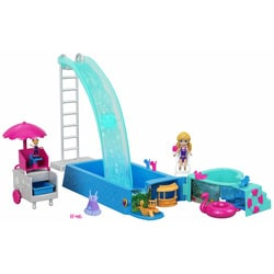 Polly Pocket-La piscine avec toboggan
