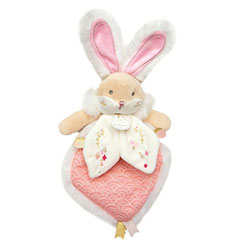 Doudou lapin sucre rose