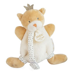 Doudou attache sucette ours petit roi