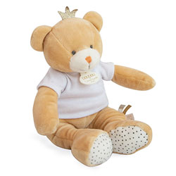 Doudou ours petit roi pantin