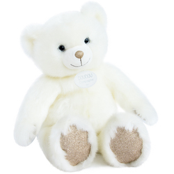 Peluche Ours Collection blanc poudré 40 cm