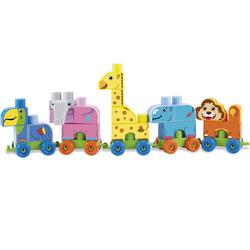 Abrick-Coffret train zoo 42 pièces