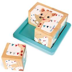 Cubes en bois Sophie la Girafe