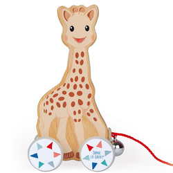 Jouet à tirer en bois Sophie la Girafe