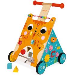 Chariot multi-activités chat en bois