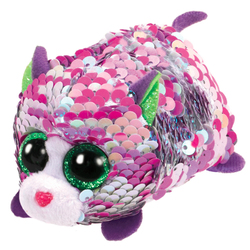 Teeny Ty sequins - Peluche Lilac le chat 8 cm