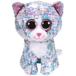 Flippables Large - Peluche sequins Whimsy le chat 41 cm