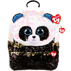 Sac à dos peluche sequins Bamboo le Panda 35 cm