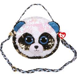 Sac à bandoulière peluche sequins Bamboo le panda 20 cm