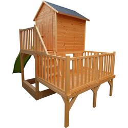 Maison en bois Jania avec toboggan