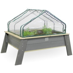 Table jardinière en bois avec serre et outils de jardinage XL