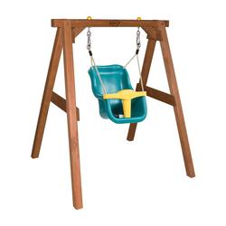 Portique bébé en bois naturel avec siège
