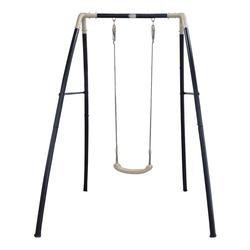 Portique en métal avec une balançoire