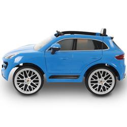Voiture électrique Porsche Macan 6V bleue avec télécommande