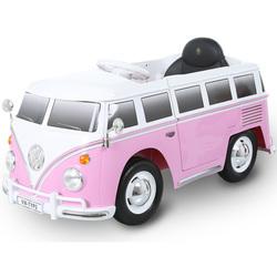 Véhicule électrique Combi Volkswagen T2 6V rose