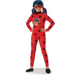 Déguisement Ladybug avec perruque 7/8 ans