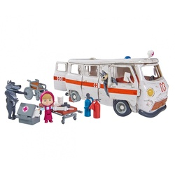 Coffret Masha et Michka ambulance et maison