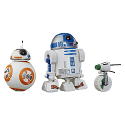 Figurines Droïdes R2-D2 BB-8 et D-O Star Wars Galaxy of Adventures